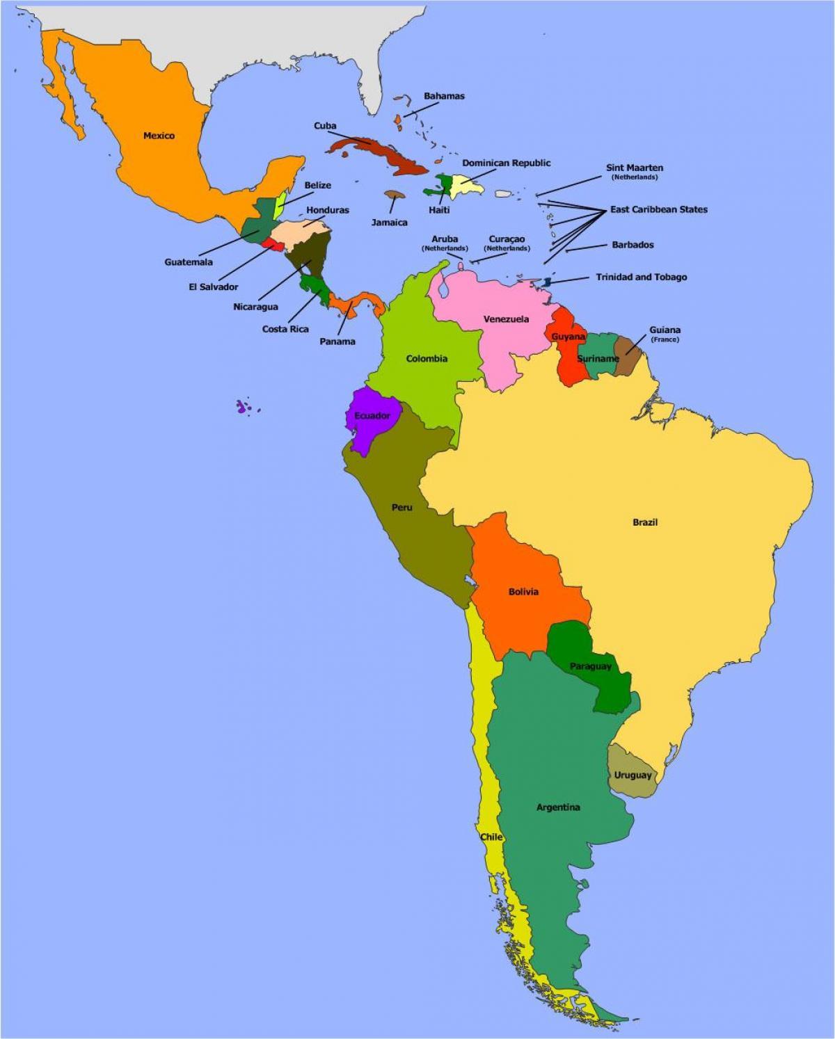 Belize Juzna Amerika Mapa Mapa Belize Juznej Amerike Stredna